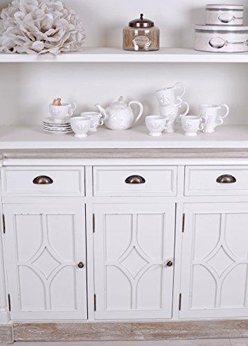 grosser b cherschrank shabby chic regal weiss b cherregal. Black Bedroom Furniture Sets. Home Design Ideas