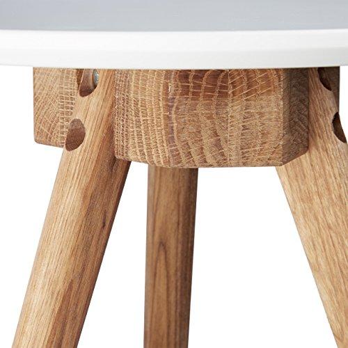 relaxdays beistelltisch 3er set tischbeine aus walnuss holz wei e tischplatte 50 40 und 32 cm. Black Bedroom Furniture Sets. Home Design Ideas