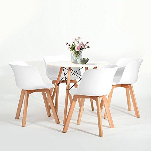 4x retro designerstuhl 4er esszimmerst hle mit armlehne k chenstuhl mit lehne design f r. Black Bedroom Furniture Sets. Home Design Ideas