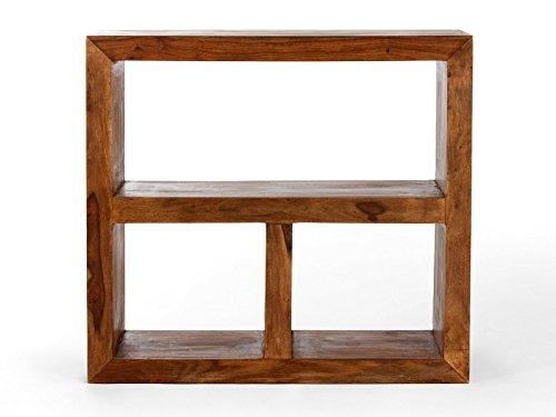 massivum Regal Cube 95x88x35 cm Palisander braun gewachst