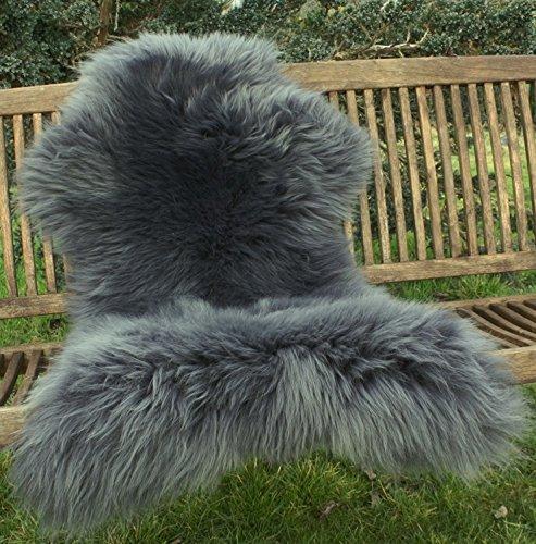 lammfell schaffell grau echtes fell kologisch gegerbt skandinavische m bel. Black Bedroom Furniture Sets. Home Design Ideas