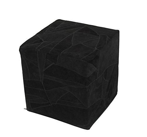 homescapes moderner designer sitzw rfel fu hocker schwarz. Black Bedroom Furniture Sets. Home Design Ideas