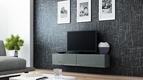 tv board lowboard migo h ngeschrank wohnwand grau matt grau hochglanz skandinavische m bel. Black Bedroom Furniture Sets. Home Design Ideas