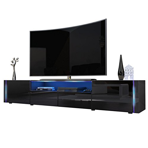 tv board lowboard marino v2 korpus in schwarz hochglanz. Black Bedroom Furniture Sets. Home Design Ideas