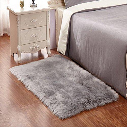 faux lammfell schaffell teppich 50 x 150 cm wohnzimmer teppiche flauschig lange haare fell optik. Black Bedroom Furniture Sets. Home Design Ideas