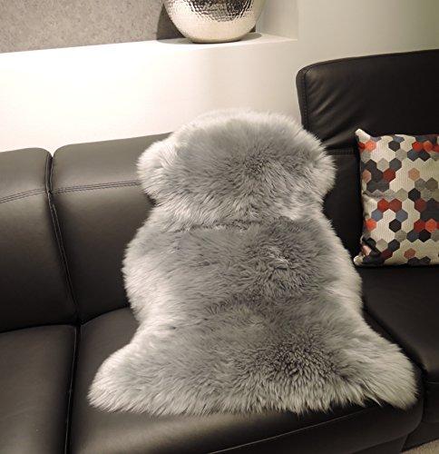 premium schaffell platin grau von lanabest spitzenqualit t echtes naturfell mit besonders. Black Bedroom Furniture Sets. Home Design Ideas