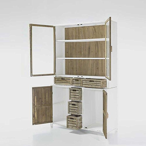 buffetschrank in wei holz shabby chic pharao24 skandinavische m bel. Black Bedroom Furniture Sets. Home Design Ideas