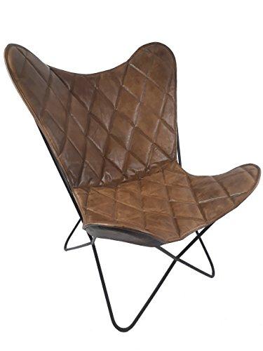 vintage sessel butterfly argyle loungesessel leder raute skandinavische m bel. Black Bedroom Furniture Sets. Home Design Ideas