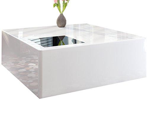 couch tisch wei hochglanz aus mdf 100x100cm quadratisch blox moderner wohnzimmer tisch. Black Bedroom Furniture Sets. Home Design Ideas