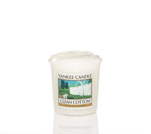 Yankee Candle Jar Kerze, Clean Cotton, weiß, Sampler Votives