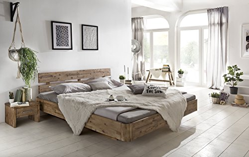 woodkings bett 180 200 hampden doppelbett akazie wei geb rstet schlafzimmer massivholz design. Black Bedroom Furniture Sets. Home Design Ideas