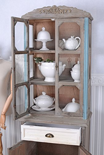 Antik vitrine buffet schrank shabby chic vitrinenschrank for Exclusive barhocker
