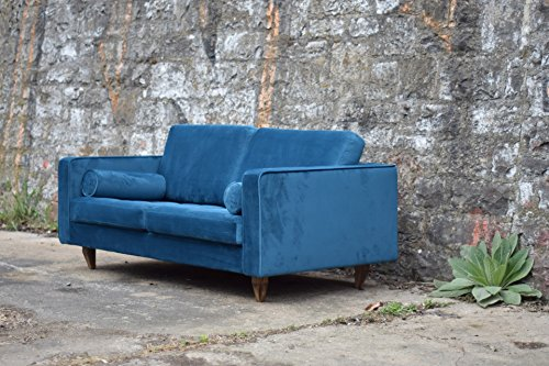 sofa venice vintage samt blau 2 sitzer 190. Black Bedroom Furniture Sets. Home Design Ideas
