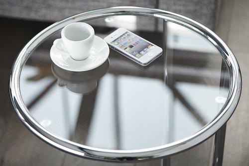 design beistelltisch original art deco couchtisch glastisch tisch mit glasplatte 3. Black Bedroom Furniture Sets. Home Design Ideas