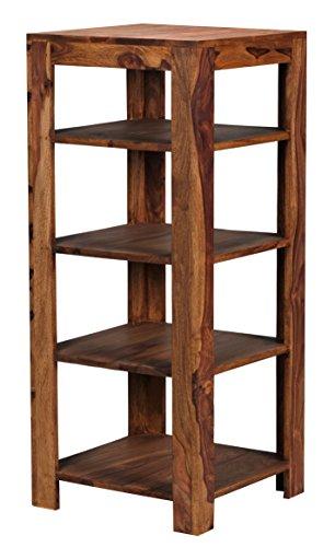 wohnling standregal massiv holz sheesham 105 cm wohnzimmer regal mit 4 ablagef cher design. Black Bedroom Furniture Sets. Home Design Ideas