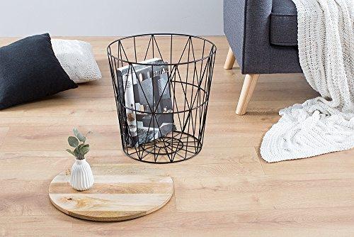 moderner couchtisch beistelltisch storage 42 cm aus metall. Black Bedroom Furniture Sets. Home Design Ideas