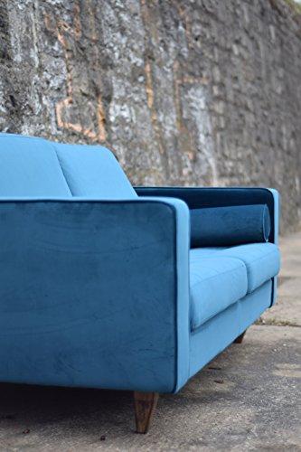 sofa venice vintage samt blau 2 sitzer 190. Black Bedroom Furniture Sets. Home Design Ideas