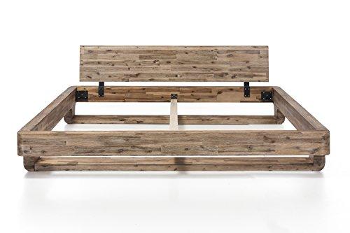 woodkings bett 180x200 mayfield doppelbett akazie wei. Black Bedroom Furniture Sets. Home Design Ideas