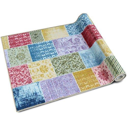 teppichl ufer laviano patchwork muster im vintage look viele gr en moderner teppich. Black Bedroom Furniture Sets. Home Design Ideas