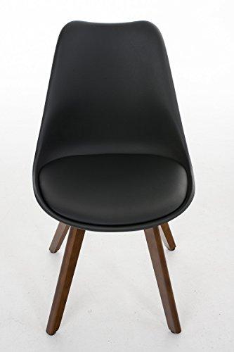 besucherstuhl borneo walnuss schwarz skandinavische m bel. Black Bedroom Furniture Sets. Home Design Ideas