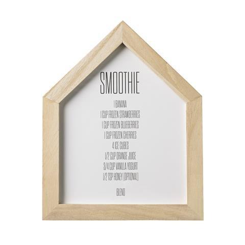 "Bloomingville Bild ""Smoothie..."", Holz natur 20x1,5x25cm"