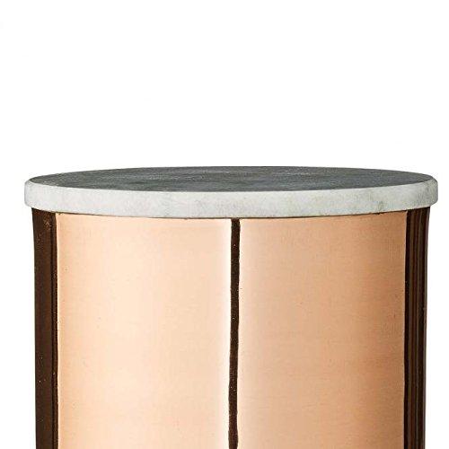 bloomingville deco jar mit marmordeckel kupfer 16 x 14cm skandinavische m bel. Black Bedroom Furniture Sets. Home Design Ideas