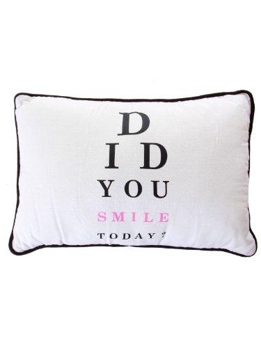 "Bloomingville Deko-Kissen ""Did you Smile Today"" (Zierkissen-Hülle mit Füllung, 40x60cm)"