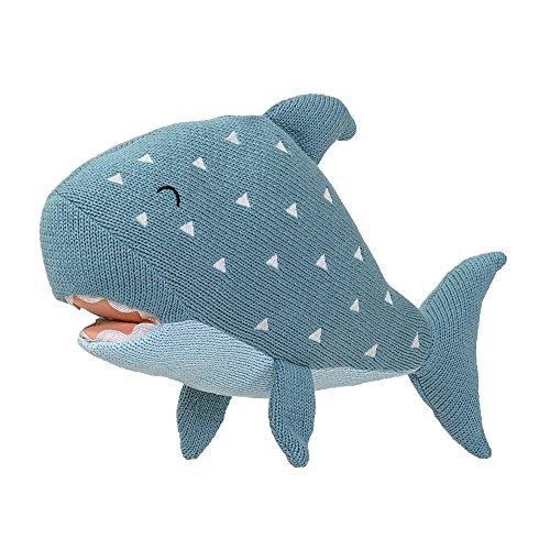 Bloomingville Strick Spielfigur Hai, grün