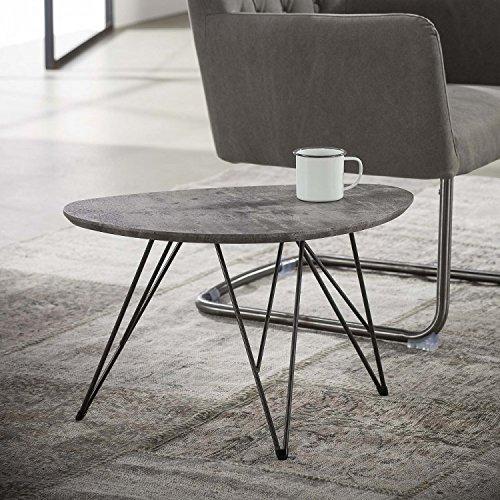 couchtisch nierentisch wohnzimmertisch klein 60x40 beton dekor skandinavische m bel. Black Bedroom Furniture Sets. Home Design Ideas