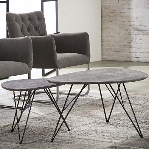 couchtisch nierentisch wohnzimmertisch klein 60x40 beton. Black Bedroom Furniture Sets. Home Design Ideas