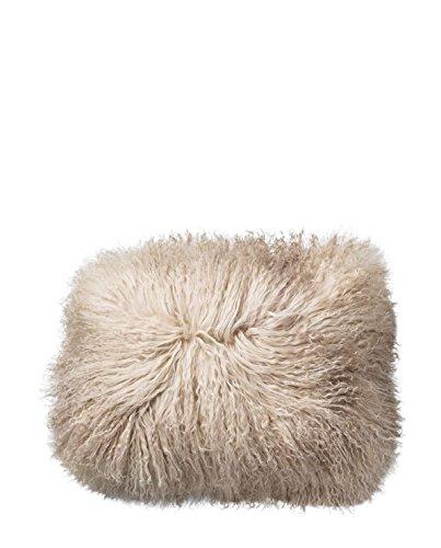 Cushion, Nature, Lambskin Tibetanian L40xW30 cm [P]
