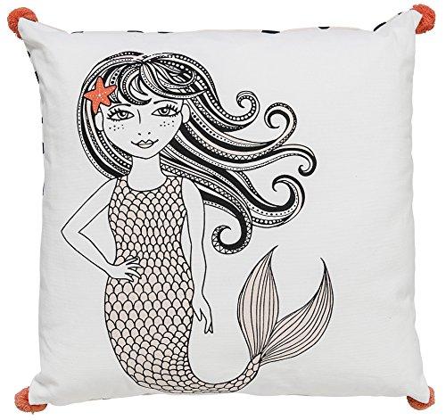 Cushion, White, Cotton L50xW50 cm