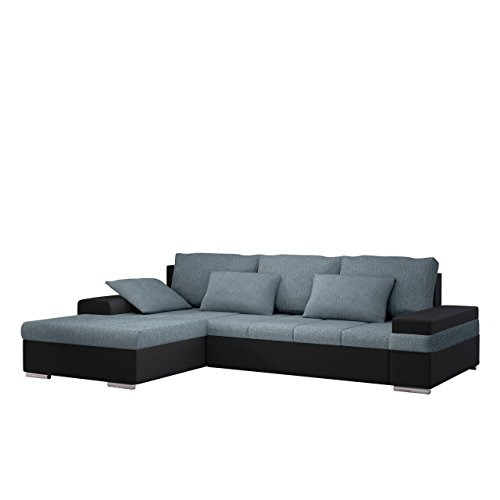 design ecksofa bangkok mini moderne eckcouch mit schlaffunktion und bettkasten schwerentflammbar. Black Bedroom Furniture Sets. Home Design Ideas