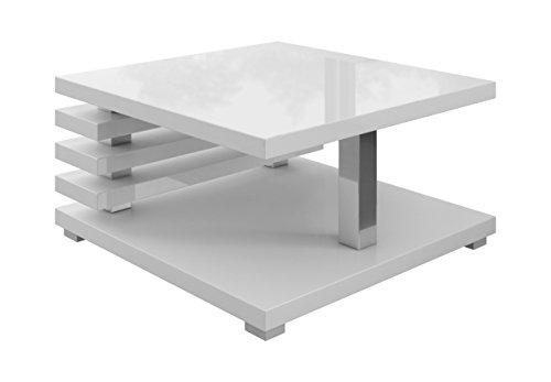 e com oslo couchtisch 60 x 60 cm wei hochglanz skandinavische m bel. Black Bedroom Furniture Sets. Home Design Ideas