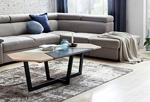 finebuy couchtisch scanio retro design skandinavisch mdf holz eiche 152 x 46 x 60 cm gro er. Black Bedroom Furniture Sets. Home Design Ideas