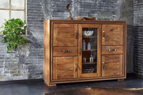 Highboard Casagrande, Sheesham massiv