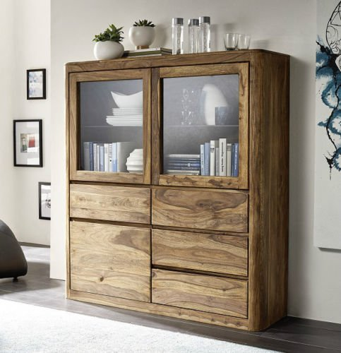 "Highboard ""Indian Sunset"" Sheesham"