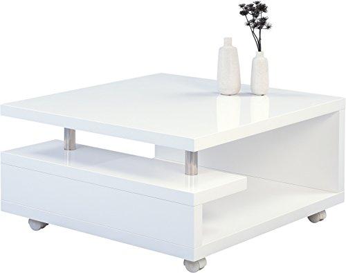 hometrends4you 131450 tilda couchtisch holz wei hochglanz 80 x 80 x 42 cm skandinavische m bel. Black Bedroom Furniture Sets. Home Design Ideas