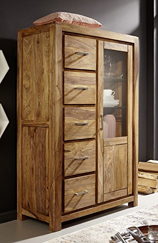 kommode highboard 97x150cm austin sheesham massiv holz skandinavische m bel. Black Bedroom Furniture Sets. Home Design Ideas
