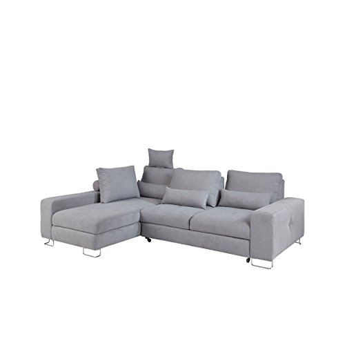 moderne ecksofa asti eckcouch mit bettkasten und schlaffunktion einstellbare r ckenlehnekissne. Black Bedroom Furniture Sets. Home Design Ideas
