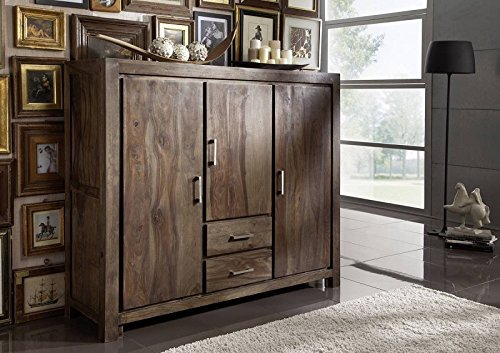 palisander massivm bel holz massiv grau highboard massivholz sheesham lackiert m bel metro polis. Black Bedroom Furniture Sets. Home Design Ideas