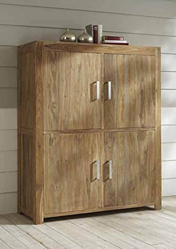 quadrato highboard indo echtes sheeshamholz. Black Bedroom Furniture Sets. Home Design Ideas