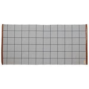 Rug, Cool Grey w/Printed Checks L120xW60 cm