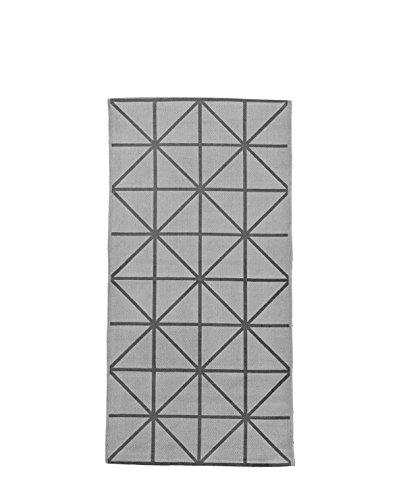 Rug, Grey/Grey, w/diagonal print 60x120 cm