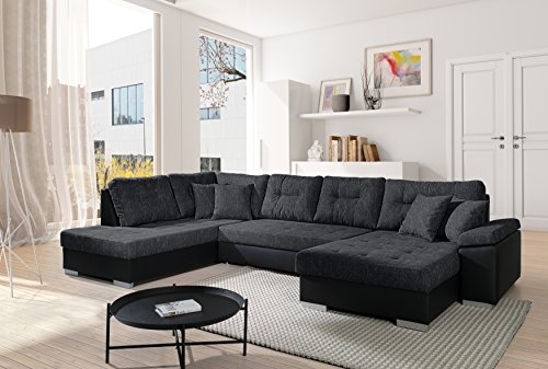 sofa couchgarnitur couch sofagarnitur santorini 3 u polstergarnitur polsterecke wohnlandschaft. Black Bedroom Furniture Sets. Home Design Ideas