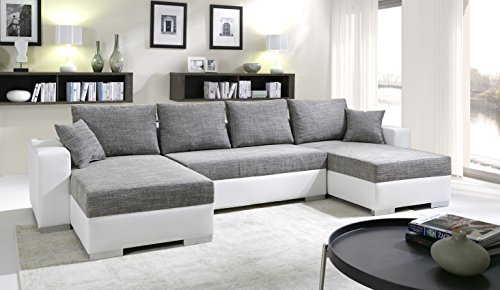sofa couchgarnitur couch sofagarnitur tiger 4 u polstergarnitur polsterecke wohnlandschaft mit. Black Bedroom Furniture Sets. Home Design Ideas
