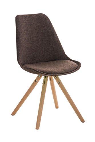 stuhl pegleg stoff rund natura braun skandinavische m bel. Black Bedroom Furniture Sets. Home Design Ideas