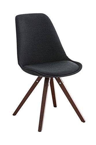 stuhl pegleg stoff square walnuss schwarz skandinavische. Black Bedroom Furniture Sets. Home Design Ideas