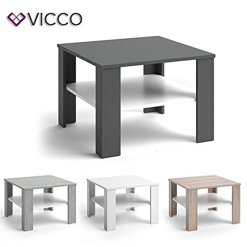 Vicco couchtisch homer 60x60 wohnzimmer sofatisch for Farbvarianten wohnzimmer
