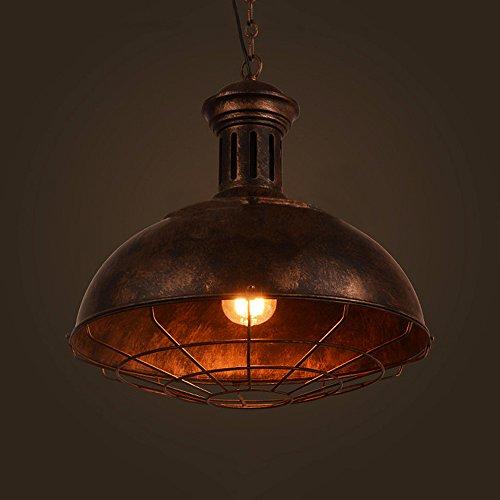 vintage pendelleuchte frideko industrieleuchte mit rustikalem dome sch sselanordnung in. Black Bedroom Furniture Sets. Home Design Ideas